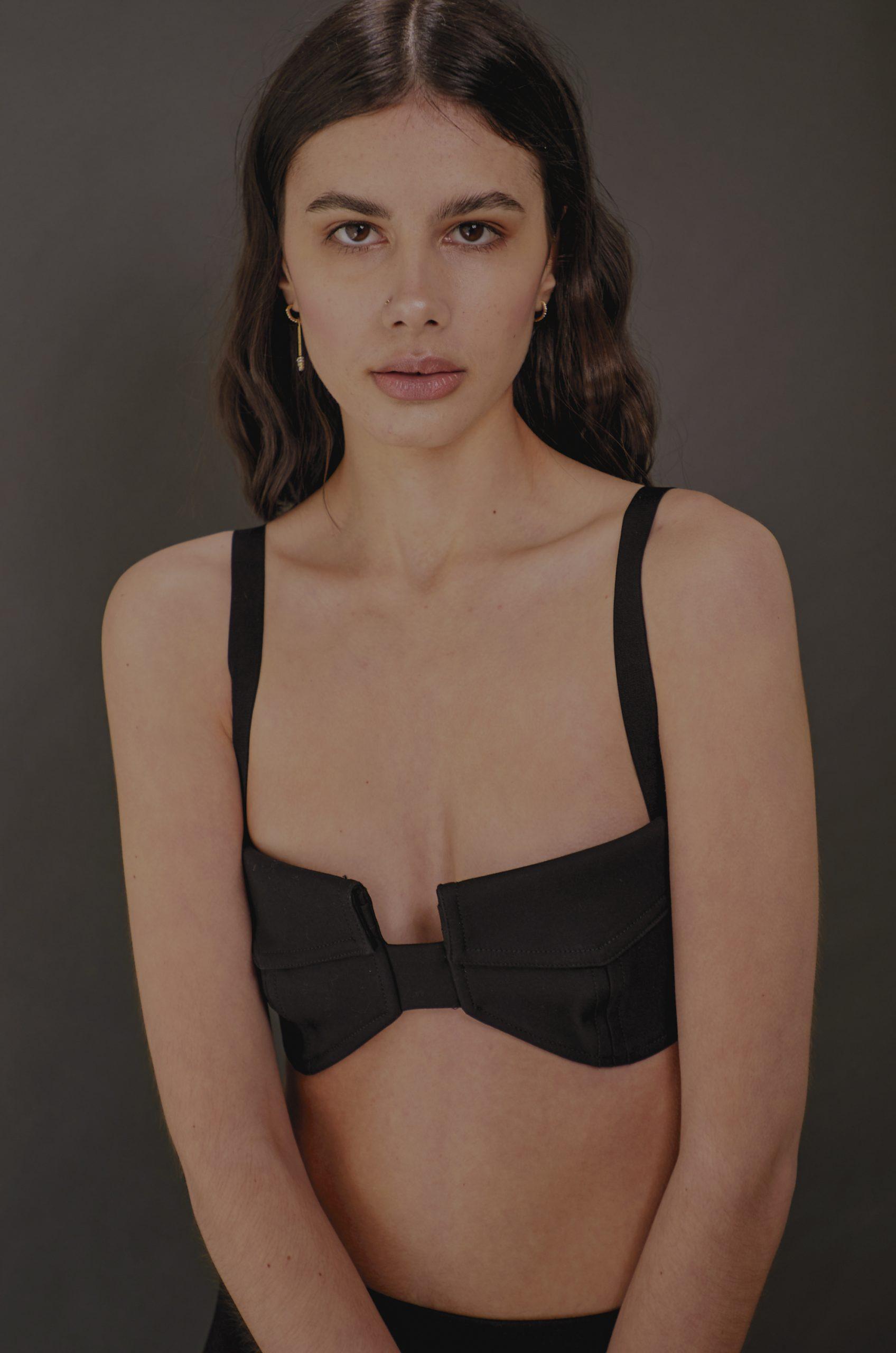 NEUE model Monique Lane wearing Dion Lee by Aaron VIII