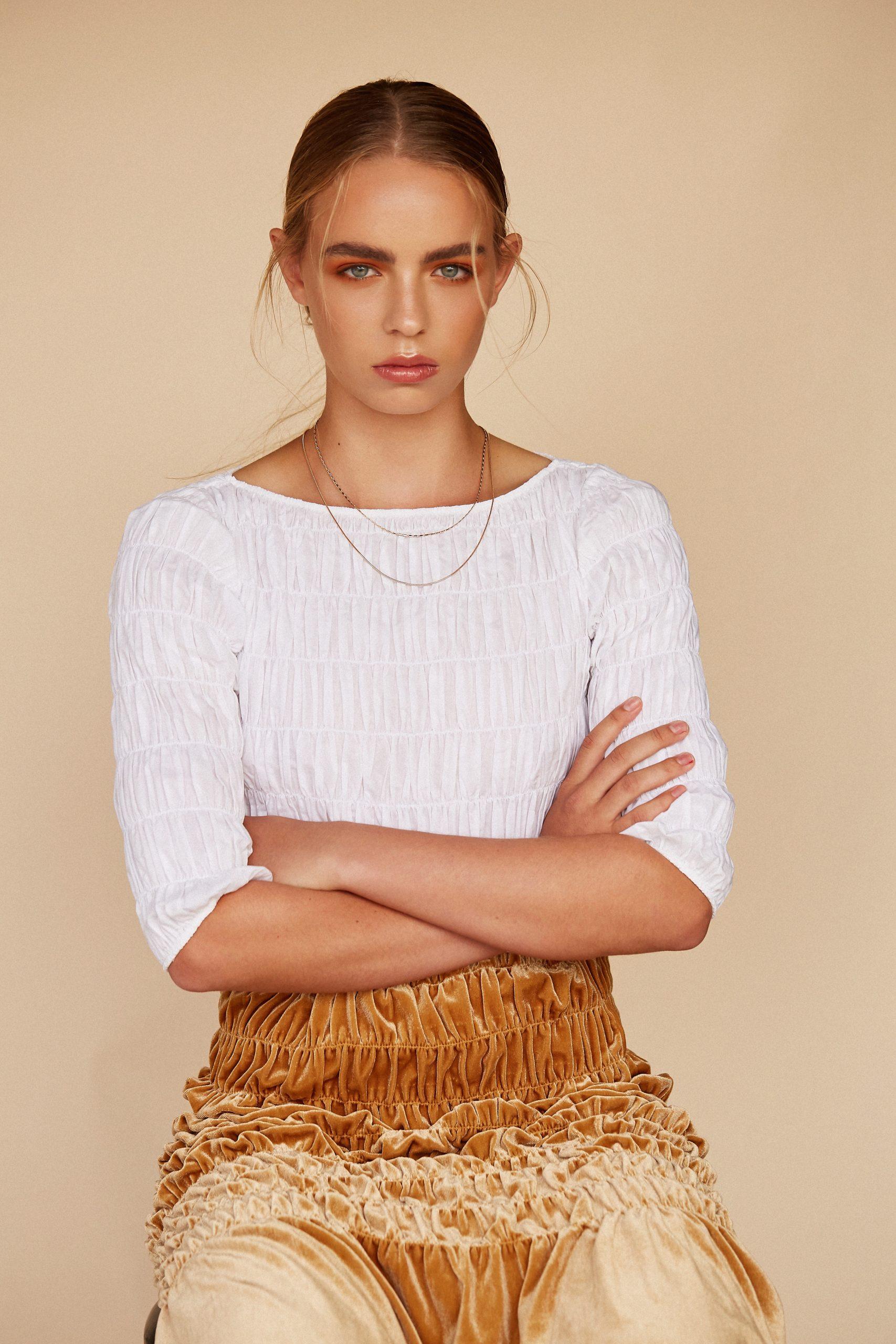 NEUE model Steph Potter shot by beauty photographer Chantelle Kemkemian